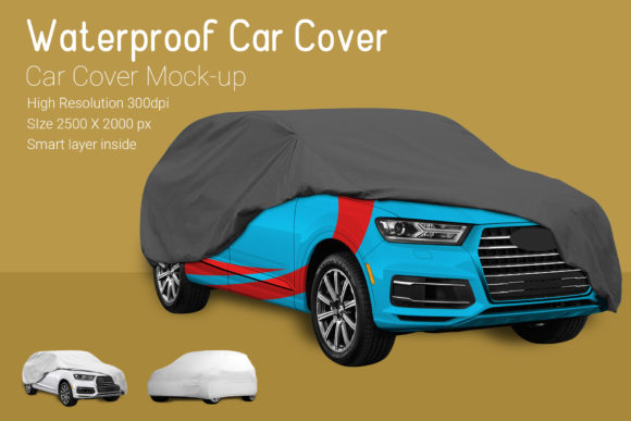 Car Cover Mock-Up Graphic By gumacreative