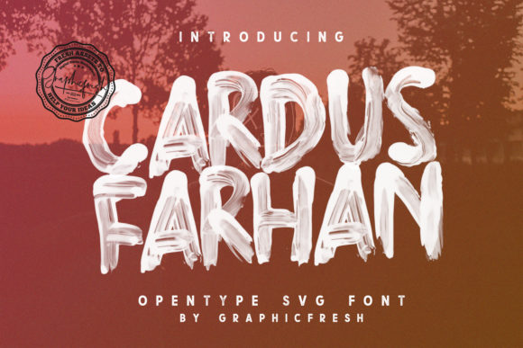 Cardus Brush Display Font By Sameeh Media