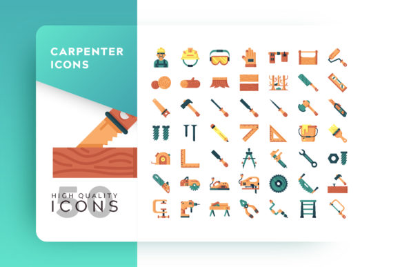 Print on Demand: Carpenter Icon Packs Graphic Icons By Goodware.Std