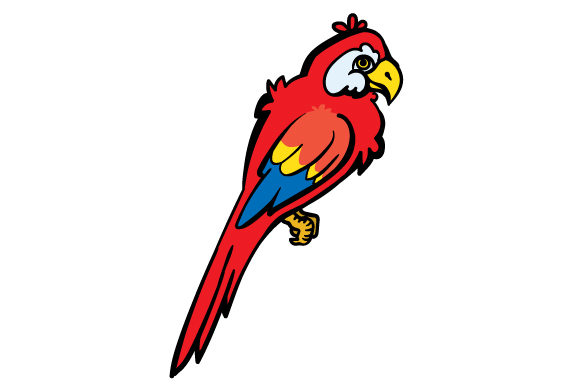 Cartoon Parrot Pirates Craft Cut File By Creative Fabrica Crafts - Image 1