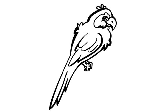 Download Free Cartoon Parrot Svg Cut File By Creative Fabrica Crafts for Cricut Explore, Silhouette and other cutting machines.