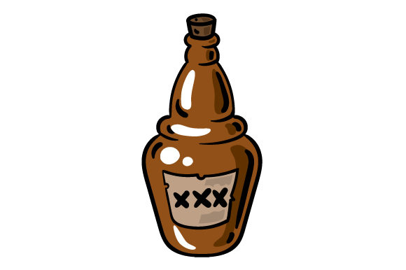 Download Free Cartoon Rum Bottle Svg Cut File By Creative Fabrica Crafts for Cricut Explore, Silhouette and other cutting machines.