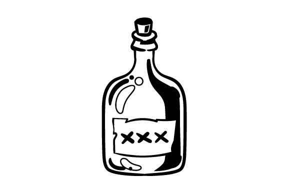 Download Free Cartoon Rum Bottle Svg Plotterdatei Von Creative Fabrica Crafts SVG Cut Files