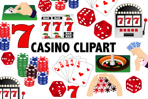 Print on Demand: Casino Clipart Graphic Illustrations By Mine Eyes Design