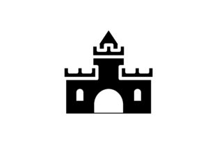Download Free Castle Icon Graphic By Hellopixelzstudio Creative Fabrica for Cricut Explore, Silhouette and other cutting machines.