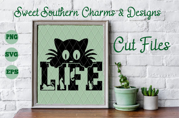 Cat Life Gráfico Crafts Por Sweet Southern Charms