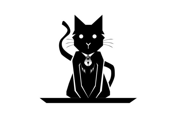 Download Free Cat Silhouette Graphic By Rfg Creative Fabrica for Cricut Explore, Silhouette and other cutting machines.