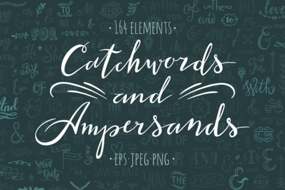 Catchwords and Ampersands Graphic Illustrations By redchocolate