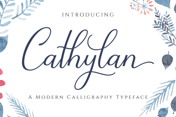 Cathylan Font By Her Letter Creative Fabrica