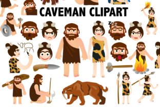 Caveman Clipart Graphic By Mine Eyes Design