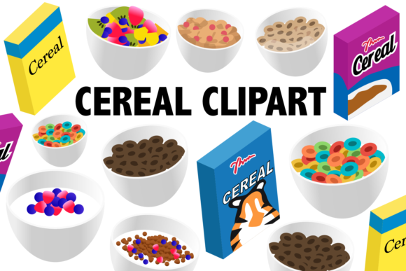 Cereal Clipart Graphic Illustrations By Mine Eyes Design