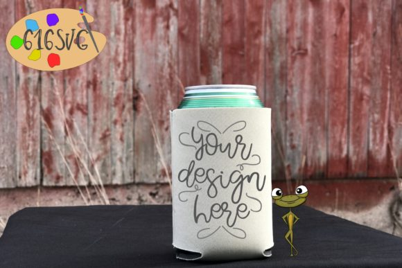 Download Free Champagne Can Cooler Mockup Graphic By 616svg Creative Fabrica for Cricut Explore, Silhouette and other cutting machines.