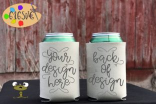 Champagne Can Cooler Mockup Graphic Product Mockups By 616SVG