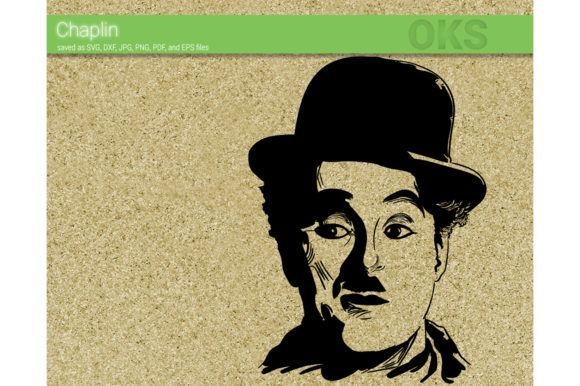 Download Free Chaplin Graphic By Crafteroks Creative Fabrica for Cricut Explore, Silhouette and other cutting machines.