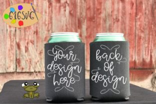 Charcoal Can Cooler Mockup Graphic Product Mockups By 616SVG