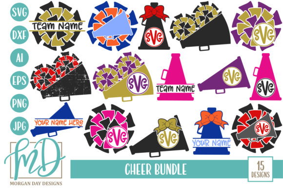 Print on Demand: Cheer SVG Bundle Graphic Crafts By Morgan Day Designs