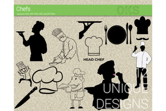 Download Free Chef Vector Clipart Graphic By Crafteroks Creative Fabrica for Cricut Explore, Silhouette and other cutting machines.