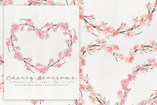 Cherry Blossoms 04 Pink and Peach Wreath Graphic By Michelle Alzola