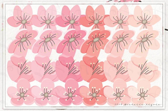 Print on Demand: Cherry Blossoms 04 Pink and Peach Graphic Illustrations By Michelle Alzola - Image 3