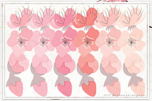 Print on Demand: Cherry Blossoms 04 Pink and Peach Graphic Illustrations By Michelle Alzola - Image 4