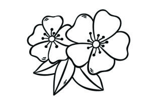 Cherry Blossoms Tattoos Craft Cut File By Creative Fabrica Crafts