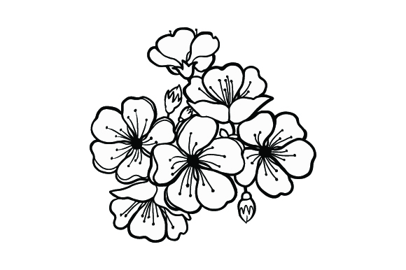 Download Free Cherry Blossoms Svg Cut File By Creative Fabrica Crafts for Cricut Explore, Silhouette and other cutting machines.