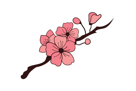 Download Free Cherry Blossoms Tattoos Svg Cut File By Creative Fabrica Crafts Creative Fabrica for Cricut Explore, Silhouette and other cutting machines.
