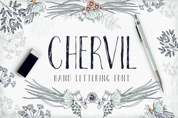 Print on Demand: Chervil Script & Handwritten Font By webvilla