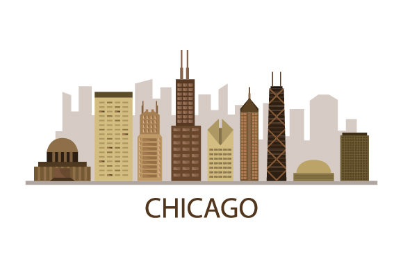 Download Free Chicago Skyline Graphic By Marco Livolsi2014 Creative Fabrica for Cricut Explore, Silhouette and other cutting machines.