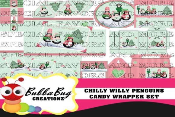 Chilly Willy Penguins Candy Wrapper Set Graphic Crafts By BUBBABUG