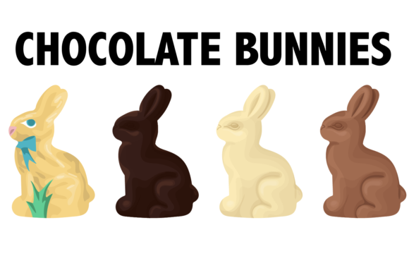 Print on Demand: Chocolate Bunnies Graphic Illustrations By Mine Eyes Design