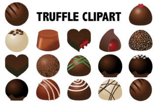 Download Free Chocolate Truffle Clipart Graphic By Mine Eyes Design Creative for Cricut Explore, Silhouette and other cutting machines.