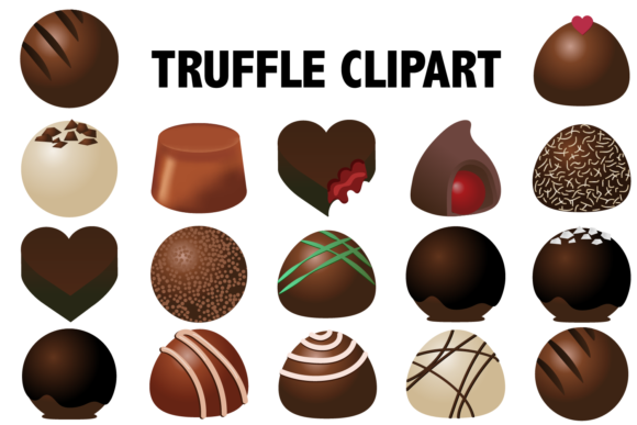 Print on Demand: Chocolate Truffle Clipart Graphic Illustrations By Mine Eyes Design