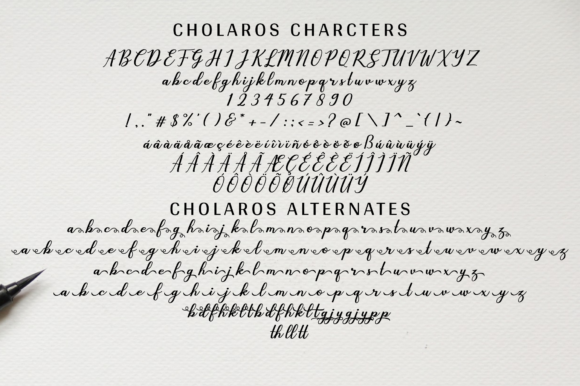 Print on Demand: Cholaros Script & Handwritten Font By Her Letter - Image 9