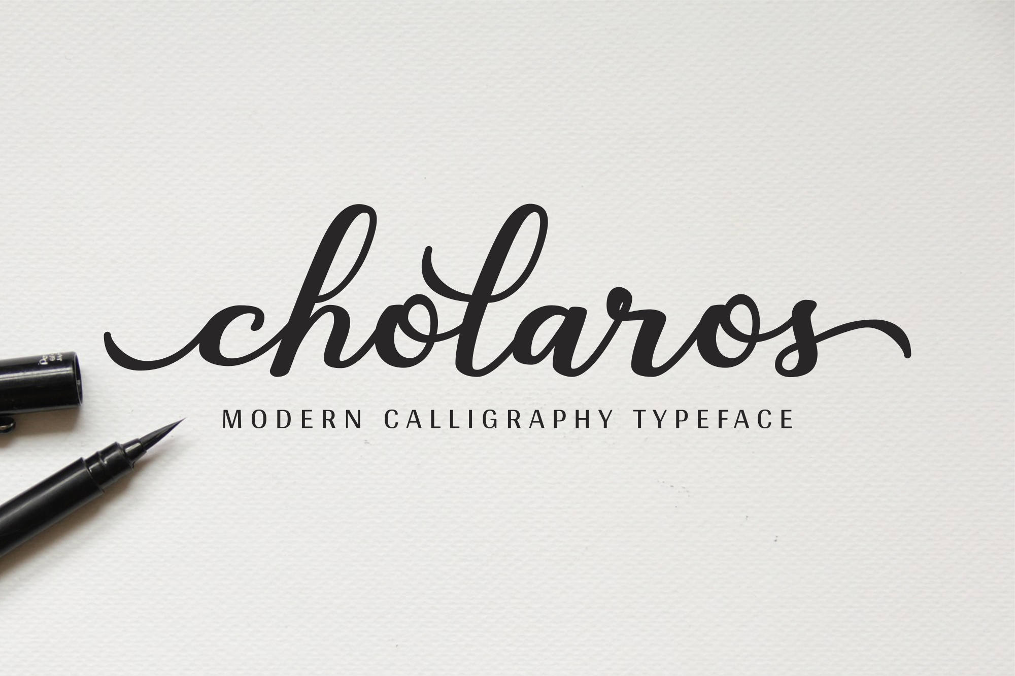 Download Free Cholaros Font By Her Letter Creative Fabrica for Cricut Explore, Silhouette and other cutting machines.