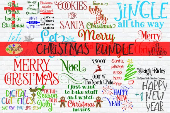 Download Free Christmas Bundle Graphic By 616svg Creative Fabrica for Cricut Explore, Silhouette and other cutting machines.