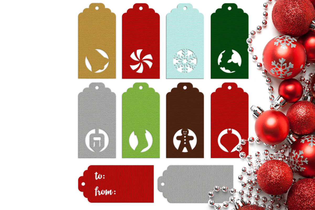 Download Free Christmas Hanukkah Holiday Gift Tags Graphic By Designedbygeeks for Cricut Explore, Silhouette and other cutting machines.