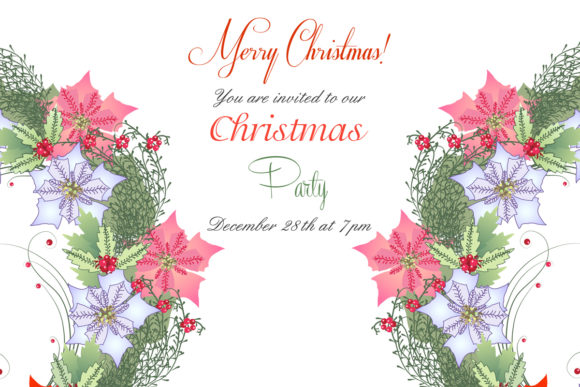 Download Free Christmas Wreath With Poinsettia Graphic By Natalia Piacheva for Cricut Explore, Silhouette and other cutting machines.