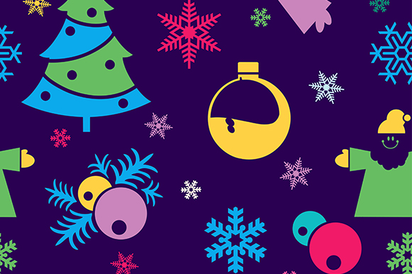 Download Free Christmas Seamless Colorful Background Graphic By Alexzel for Cricut Explore, Silhouette and other cutting machines.