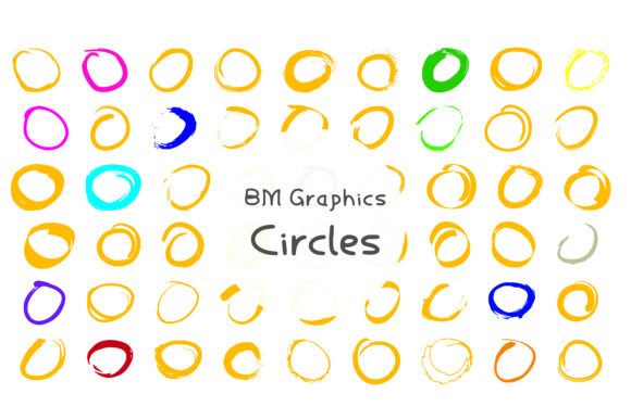 Print on Demand: BM Graphics - Circles Dingbats Font By GraphicsBam Fonts