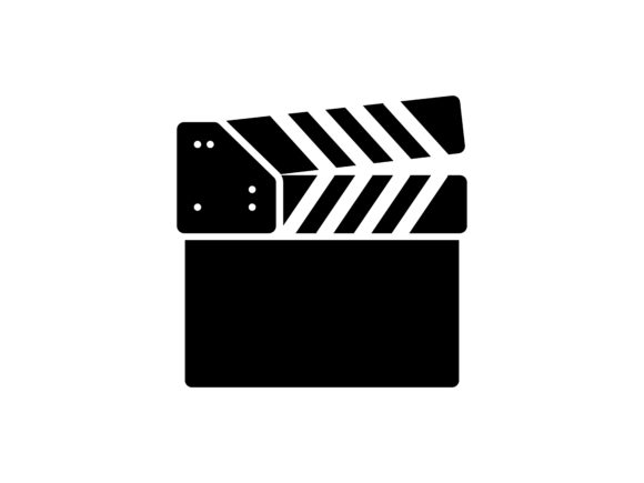 Clapperboard Glyph Vector Icon Graphic Icons By kokank13
