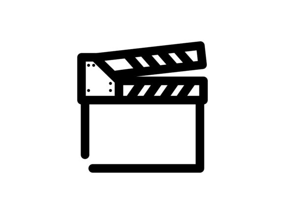 Clapperboard Outline Vector Icon Graphic By tutukof