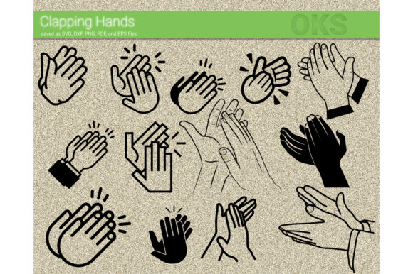 Download Free Clapping Hands Svg Vector Clap Hands Graphic By Crafteroks for Cricut Explore, Silhouette and other cutting machines.