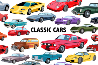Classic Car Clipart Graphic By Mine Eyes Design