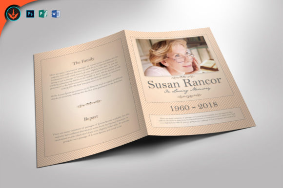 Classic Funeral Program Template Graphic By Seraphimchris Creative