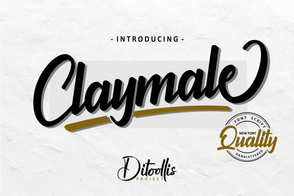 Print on Demand: Claymale Script & Handwritten Font By Ditoollis Project - Image 1