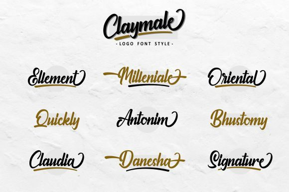 Print on Demand: Claymale Script & Handwritten Font By Ditoollis Project - Image 8