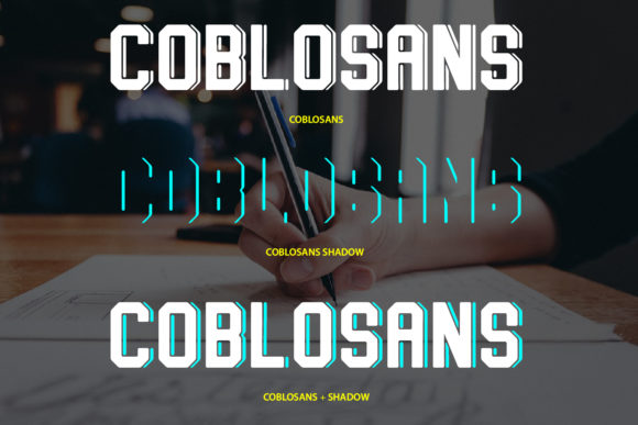Print on Demand: Coblosans Display Font By da_only_aan