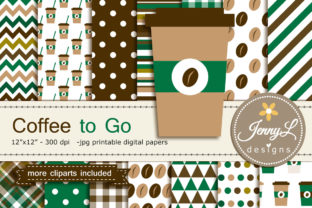 Coffee Digital Papers and Clipart Graphic By jennyL_designs