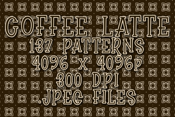Coffee Latte Graphic Patterns By vessto